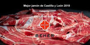 Beher recibe el premio al mejor jamón de bellota de Castilla y León 2018